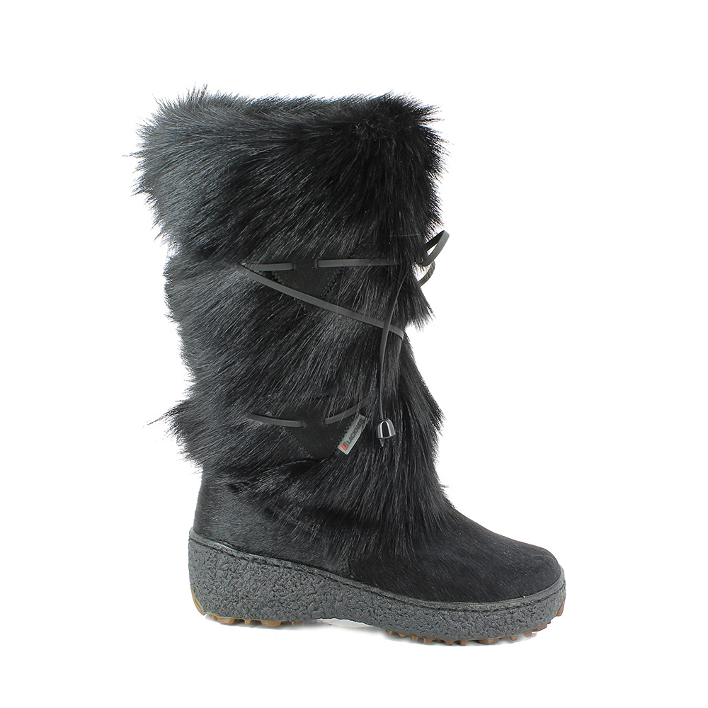 Damen winterstiefel mit fell