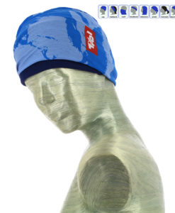 Multifunktionstuch Bergmotiv blau
