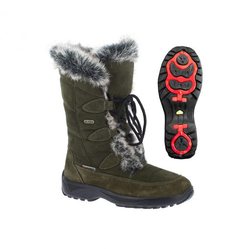Winterstiefel Renate TX Spikes oliv