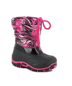 Winterschuh Flash pink-schwarz