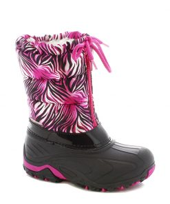 Winterstiefel Flash pink-schwarz