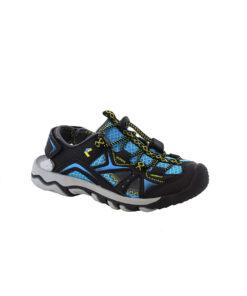 Sandale Happy schwarz-blau